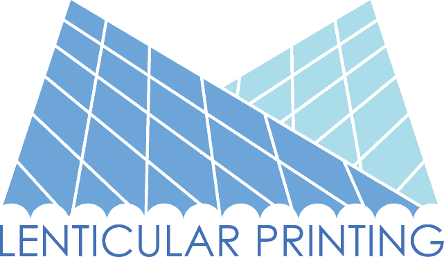 Linsenrasterdruck bzw. Lentikulardruck -logo