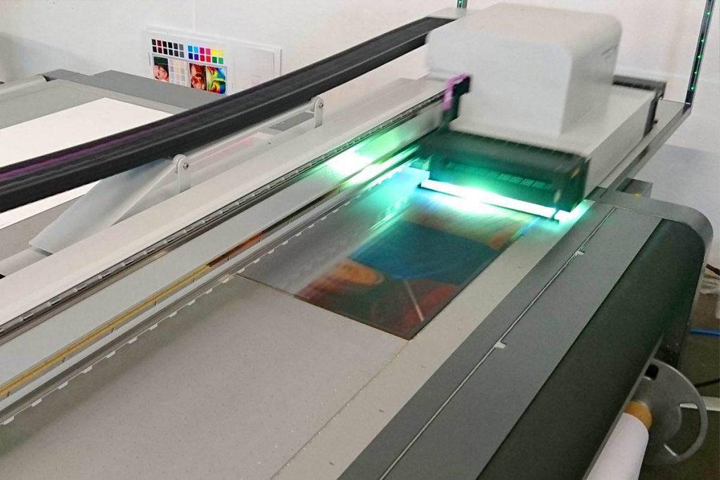 Lentikulardruck Linsenrasterdruck UV-Flachbettdrucker