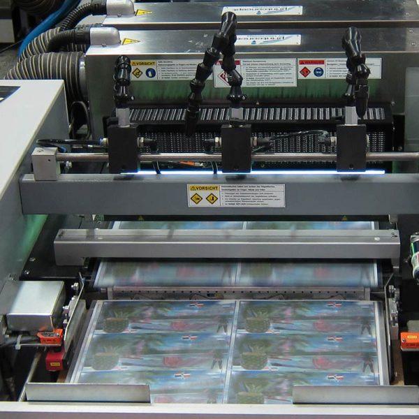 Lentikulardruck Linsenrasterdruck Offsetdruckmaschine