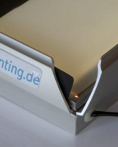 Lentikulardruck - LED-Klapprahmen
